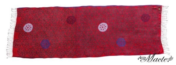 Burgundy Printed Scarf Shawl Endless Path Macte View 5