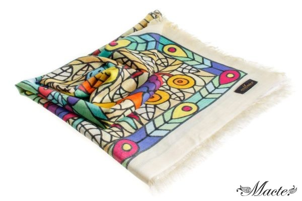 Multicolor Pashmina Shawl Birds of Paradise Macte View1