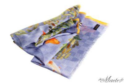 Lilac Baby Cashmere Scarf Shawl Koi Pond Macte View 1
