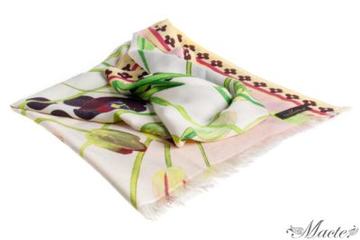 Pink Cashmere Silk Wrap Cosmic Tulips Macte View 1