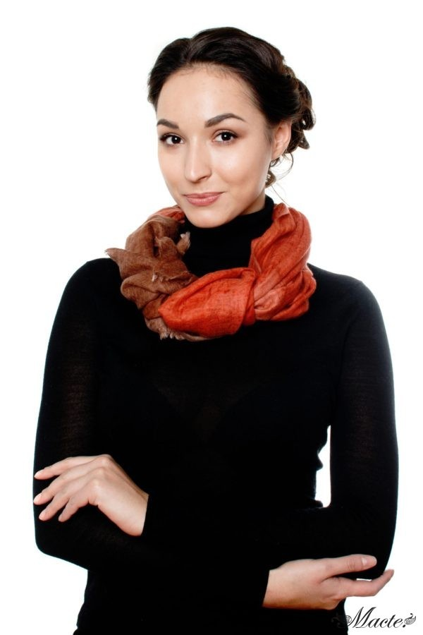 Edith Red Cashmere Scarf Wrap Macte View 4